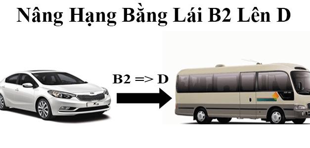 Nâng dấu bằng lái xe B2 lên D
