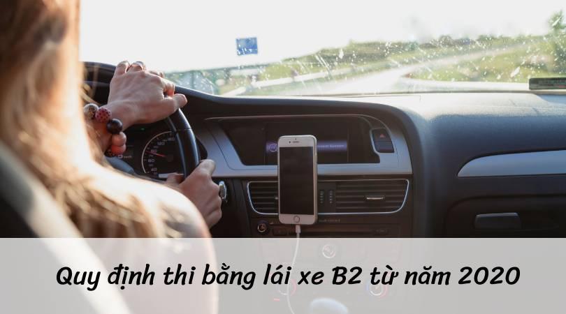 Quy định học bằng lái xe B2